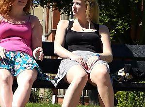 Upskirt double trouble