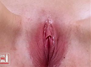 Close-Up Of Stepsister Playing and Fingering Wet Pussy