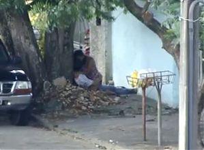Amateur sex on street