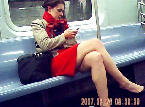 red skirt train legs 2