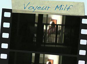 hotel Window voyeur, catches MILF playing
