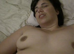 beautiful hairy milf playing with clit
