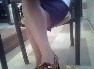 Business woman in tan pantyhose