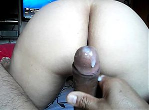hot wife riding and taking cum
