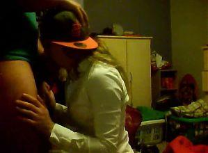 blowjob for boyfriend on webcam