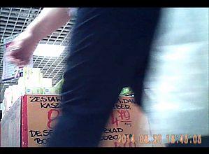 Video voyeur with a hidden camera.