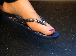 Nice feet on train