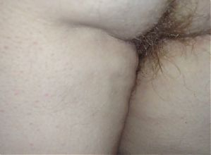 wifes hairy pussy & asshole,