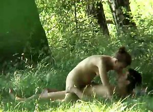 Outdoor sex in the grass
